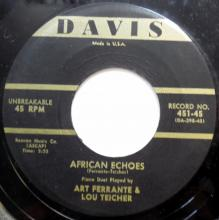 Ferrante & Teicher: Mississippi Boogie/African Echoes  (Davis)